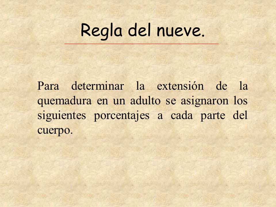 Regla del nueve.