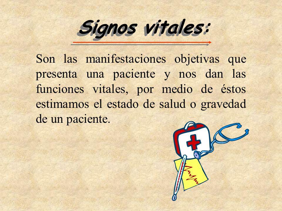 Signos vitales: