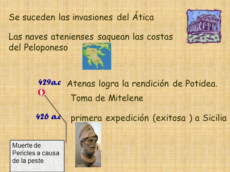 Se suceden las invasiones del Ática