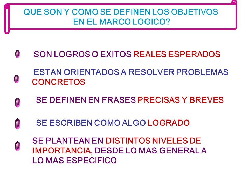 QUE SON Y COMO SE DEFINEN LOS OBJETIVOS