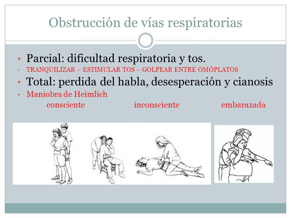 Obstrucción de vías respiratorias