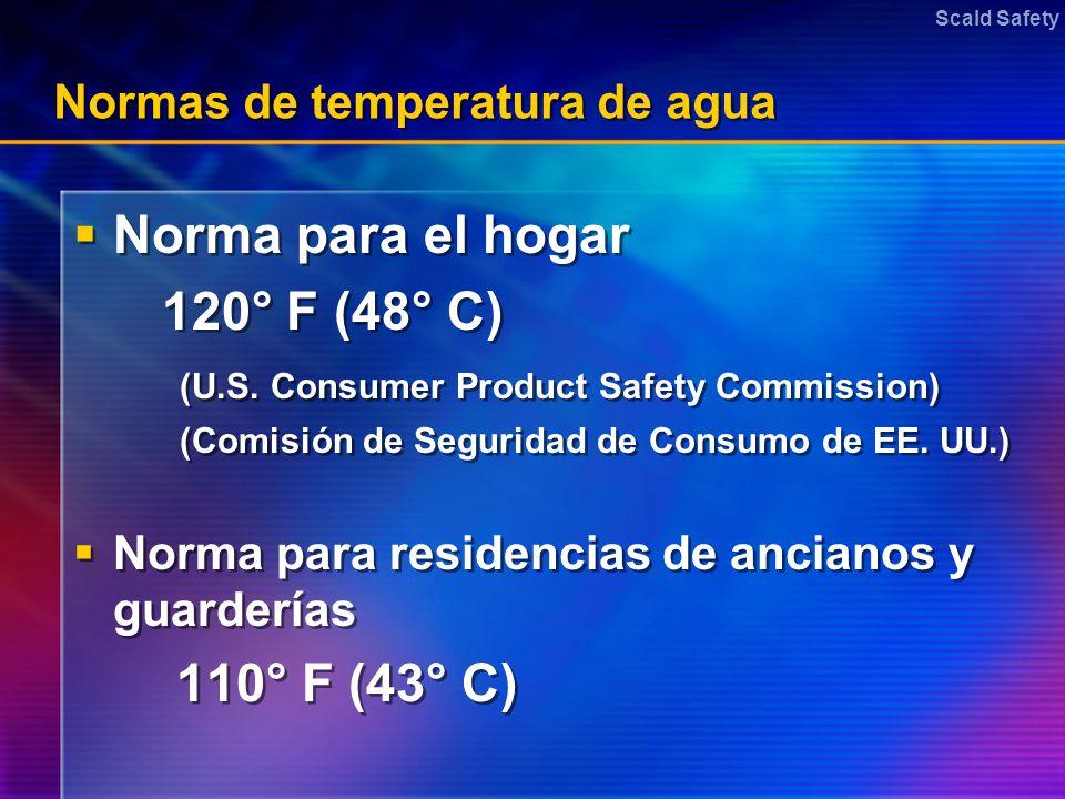 Normas de temperatura de agua