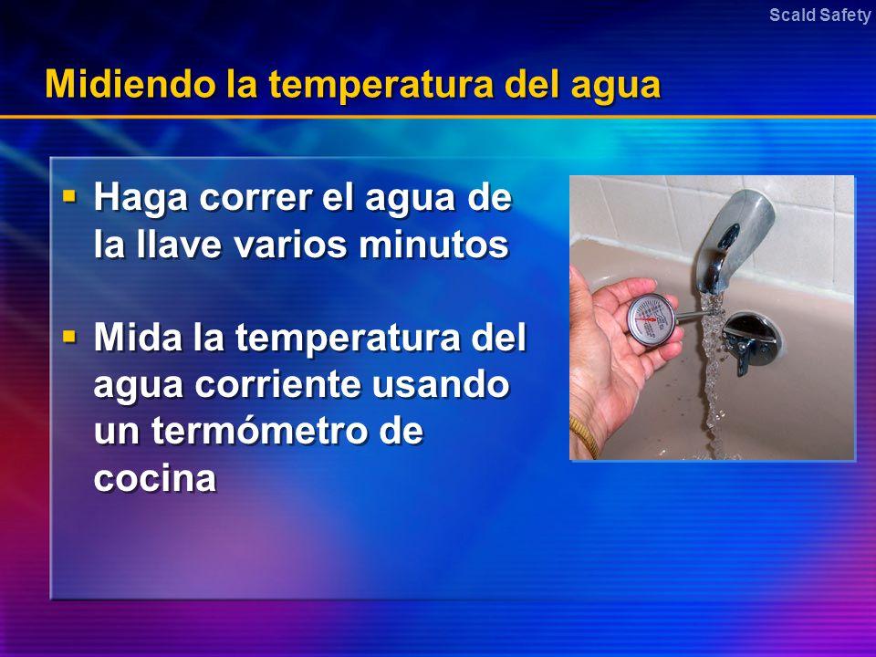 Midiendo la temperatura del agua