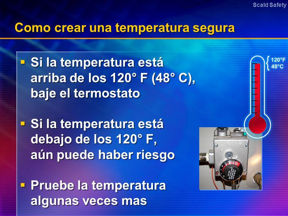 Como crear una temperatura segura