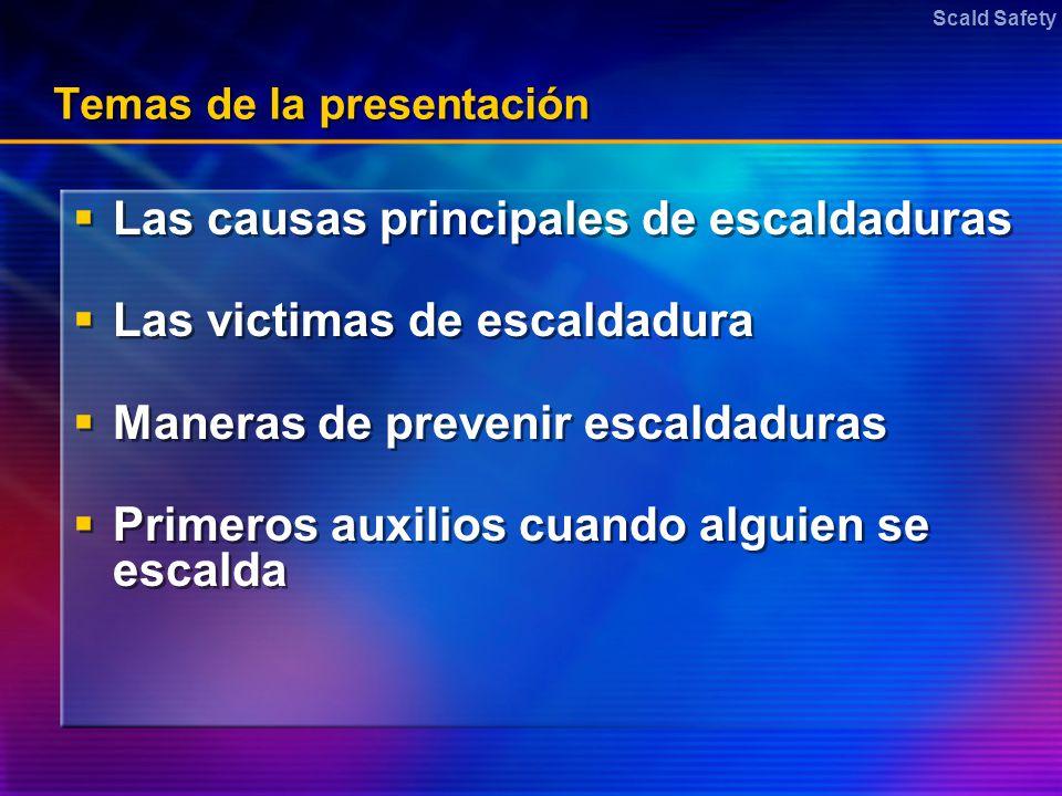 Temas de la presentación