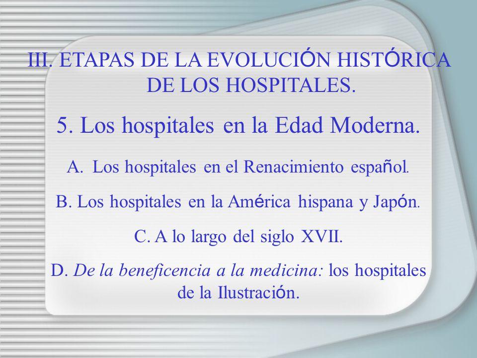 5. Los hospitales en la Edad Moderna.
