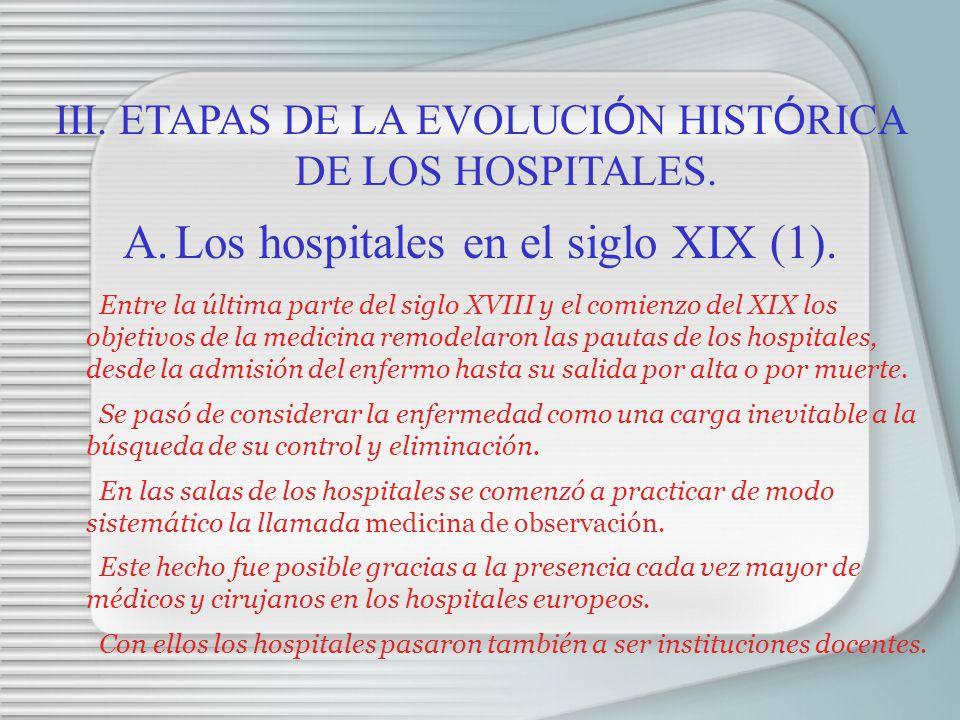 Los hospitales en el siglo XIX (1).