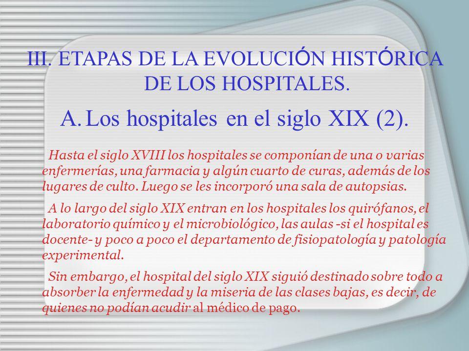 Los hospitales en el siglo XIX (2).