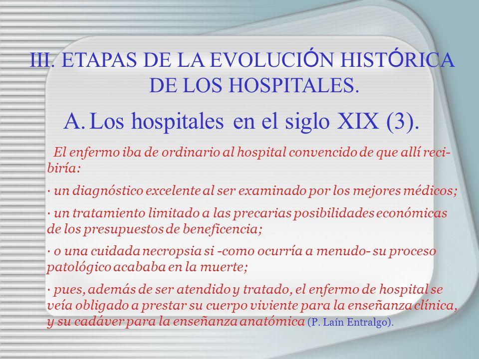 Los hospitales en el siglo XIX (3).