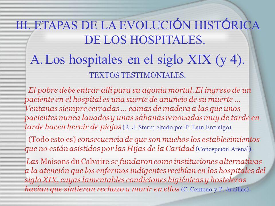 Los hospitales en el siglo XIX (y 4).