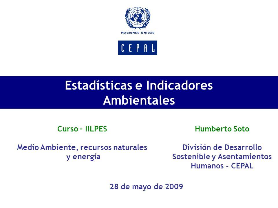 Estadísticas e Indicadores Ambientales