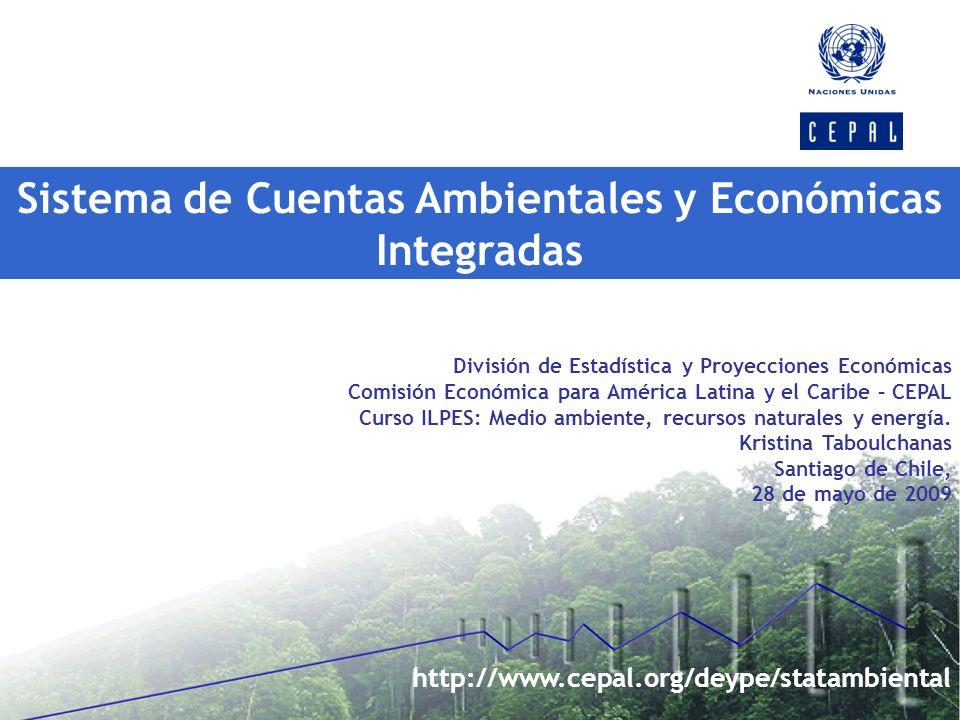 Sistema de Cuentas Ambientales y Económicas Integradas