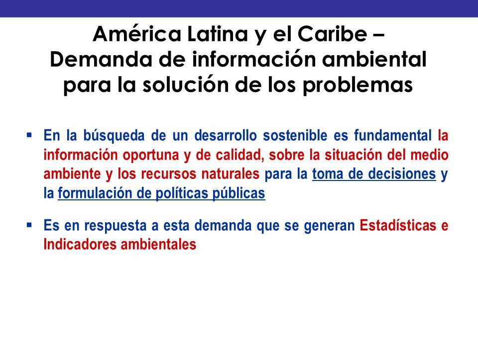 1. El Contexto América Latina y el Caribe – Demanda de información ambiental para la solución de los problemas.
