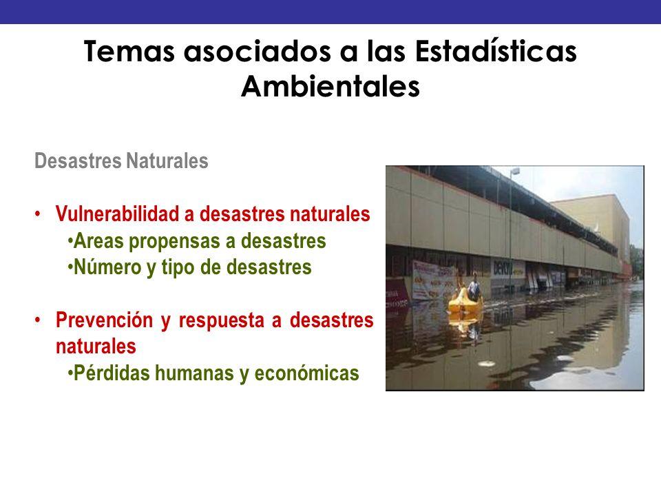 Temas asociados a las Estadísticas Ambientales