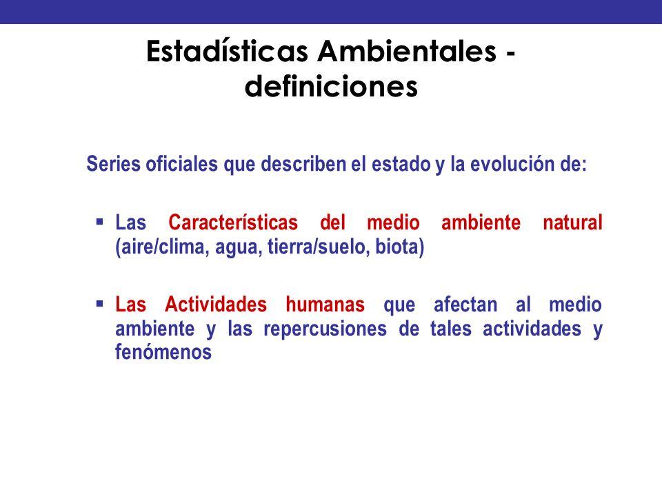 Estadísticas Ambientales - definiciones
