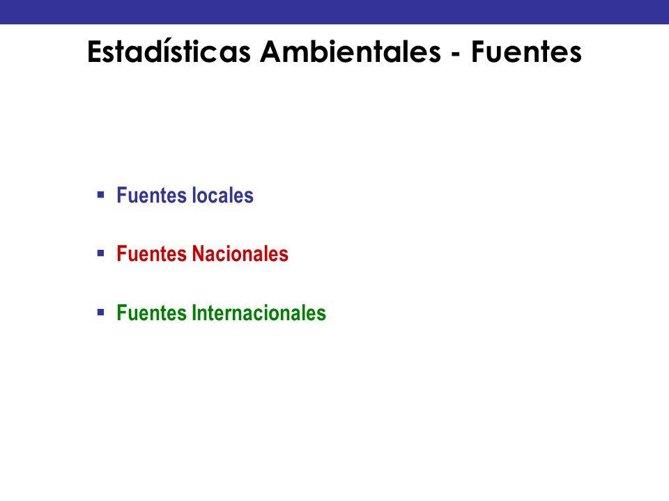 Estadísticas Ambientales - Fuentes
