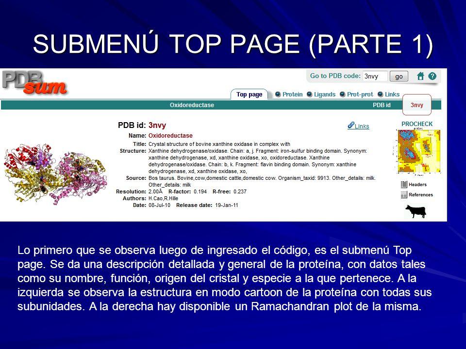 SUBMENÚ TOP PAGE (PARTE 1)