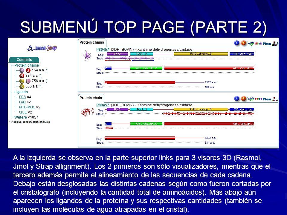 SUBMENÚ TOP PAGE (PARTE 2)