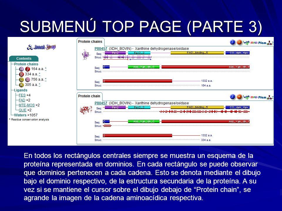 SUBMENÚ TOP PAGE (PARTE 3)