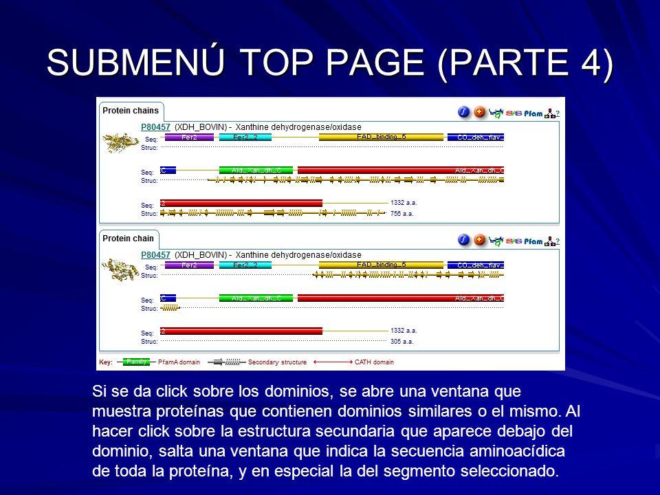 SUBMENÚ TOP PAGE (PARTE 4)