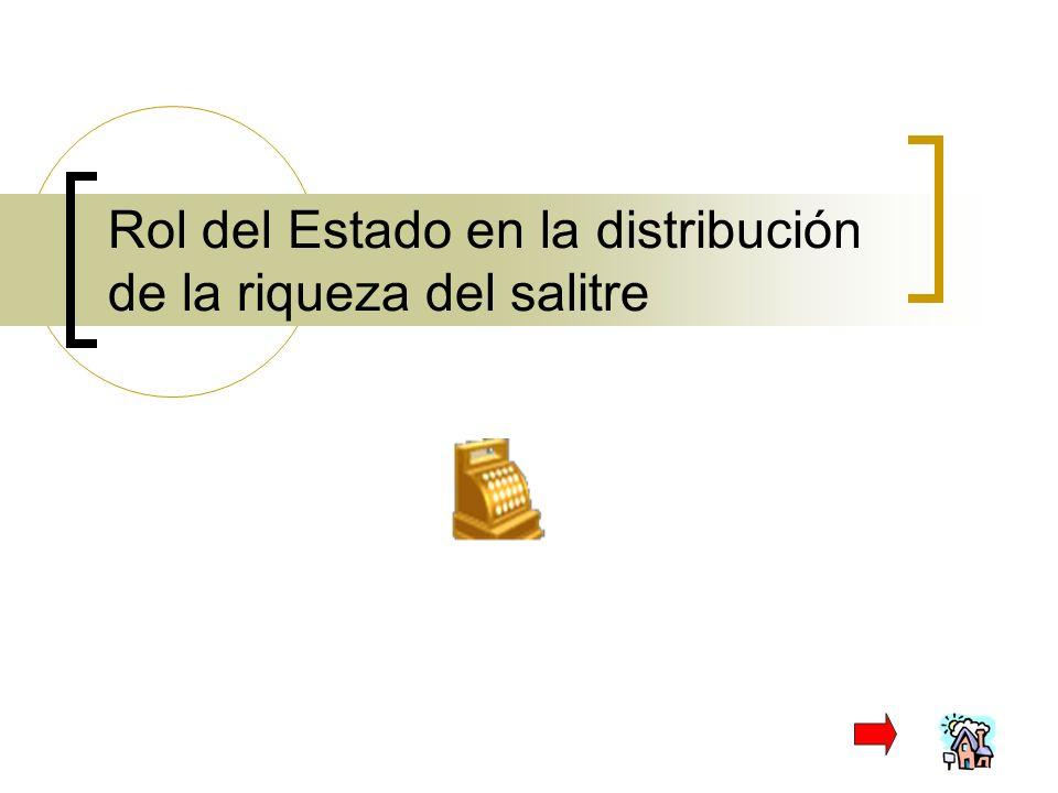 Rol del Estado en la distribución de la riqueza del salitre