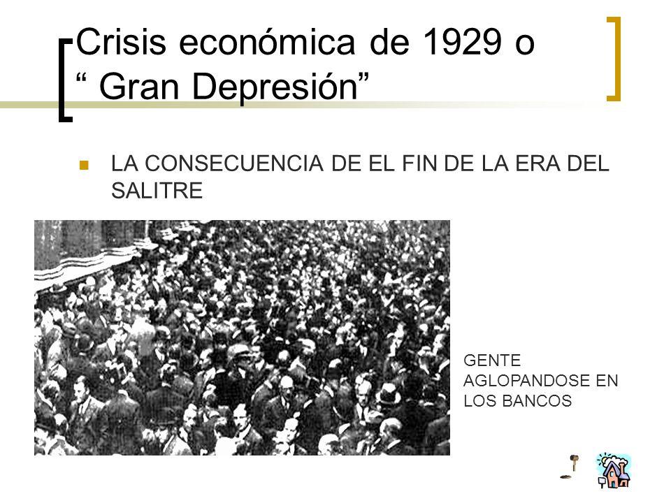 Crisis económica de 1929 o Gran Depresión