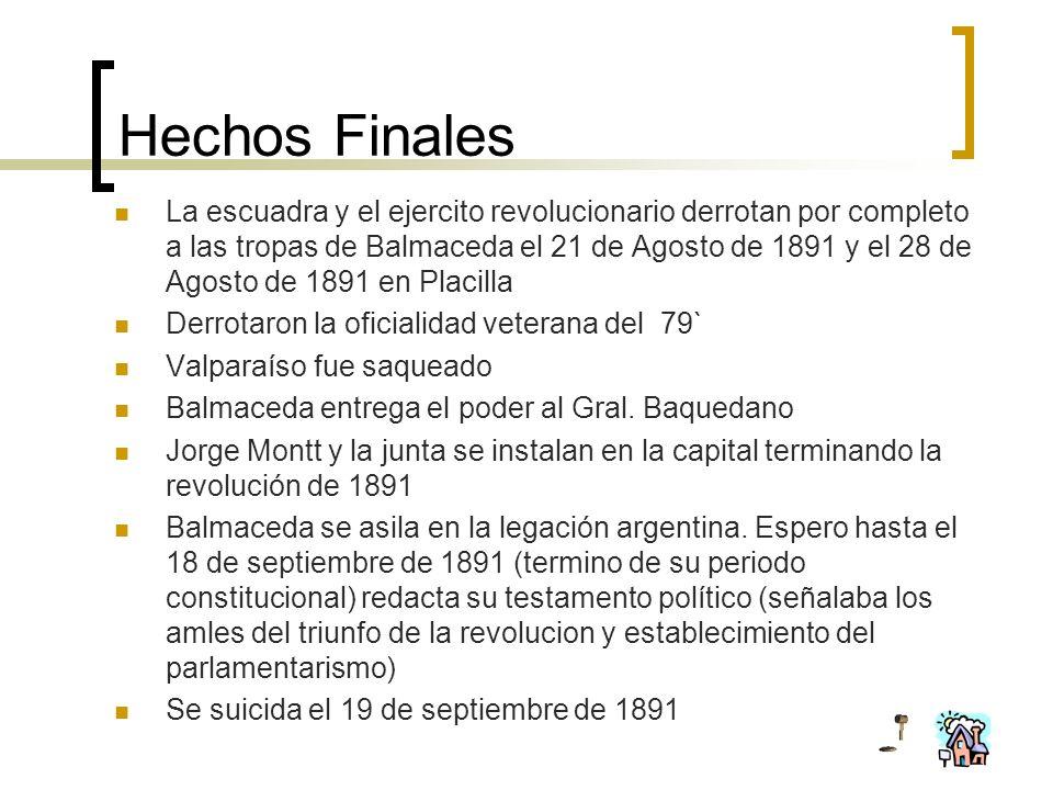 Hechos Finales