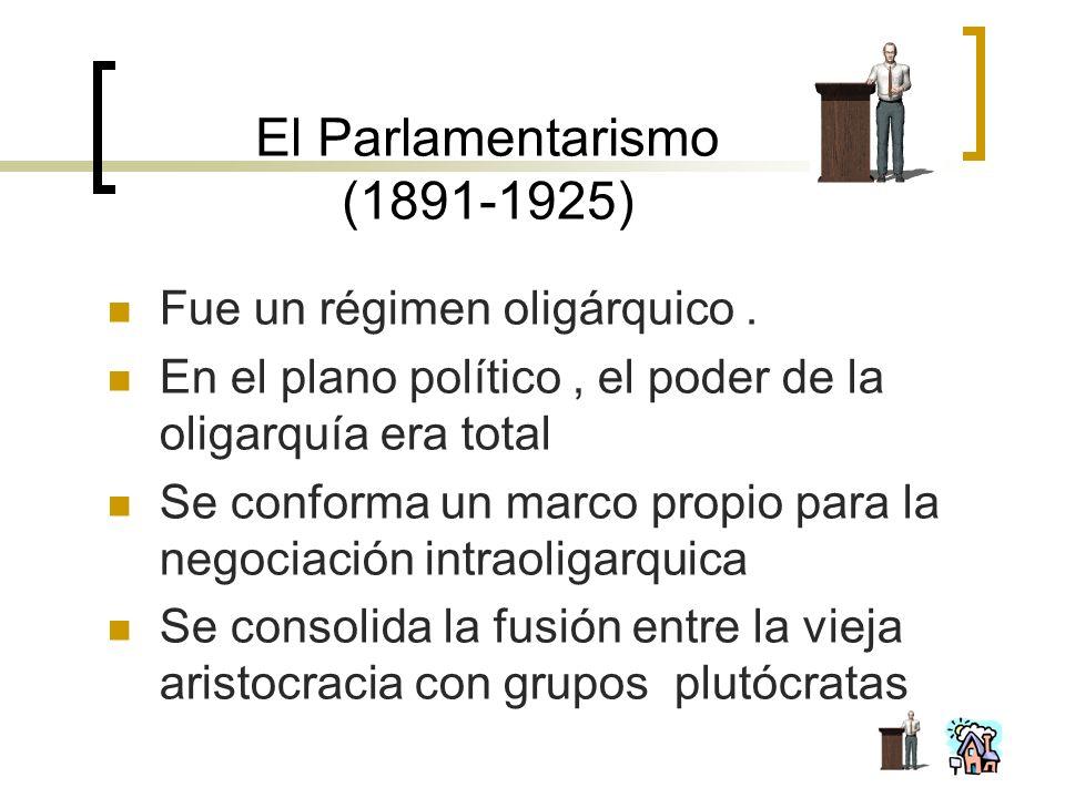 El Parlamentarismo (1891-1925)