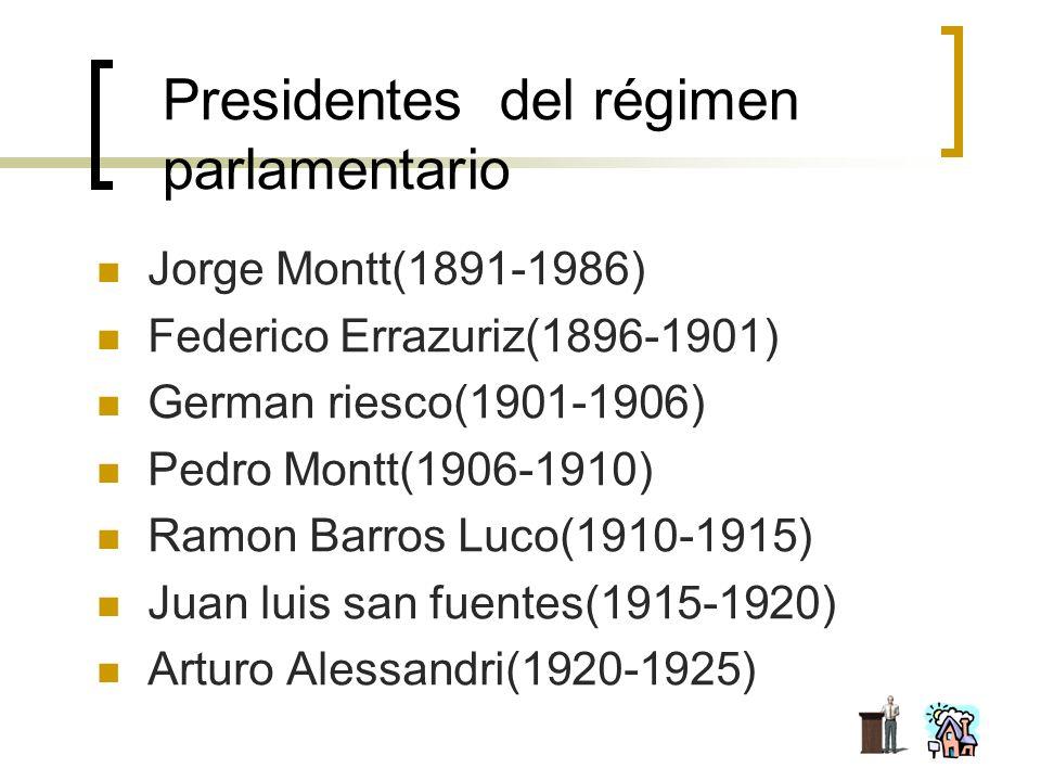 Presidentes del régimen parlamentario