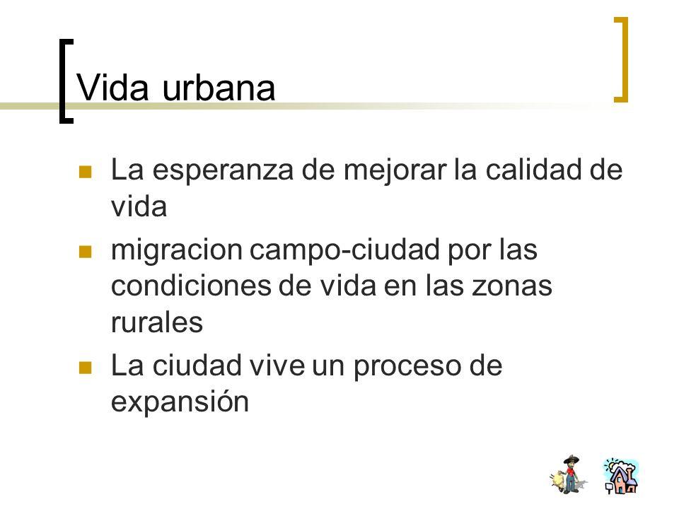 Vida urbana La esperanza de mejorar la calidad de vida