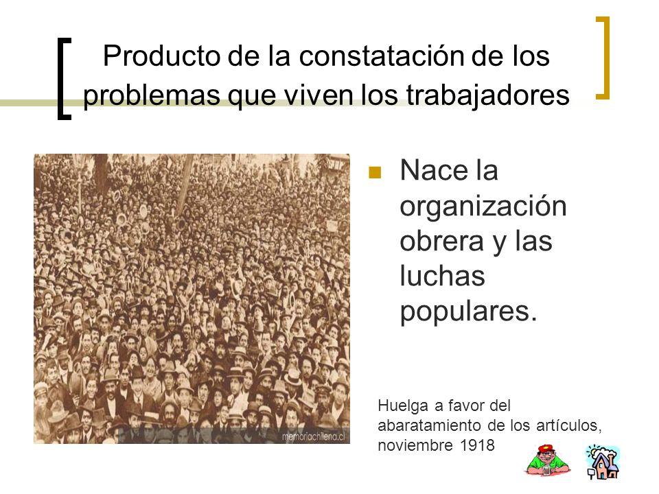 Nace la organización obrera y las luchas populares.