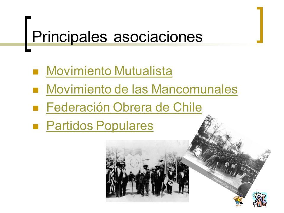Principales asociaciones