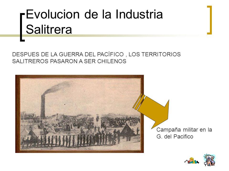 Evolucion de la Industria Salitrera