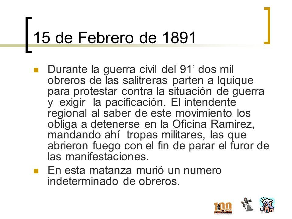 15 de Febrero de 1891