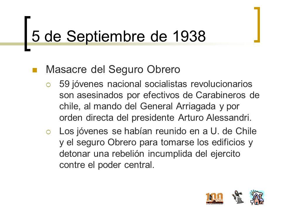 5 de Septiembre de 1938 Masacre del Seguro Obrero