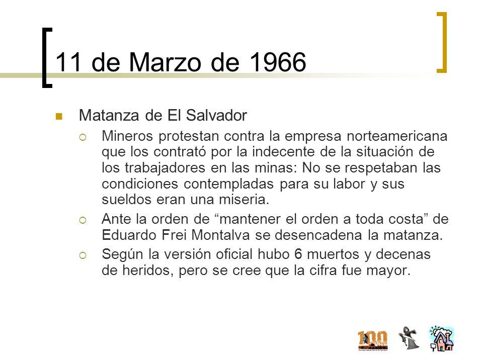 11 de Marzo de 1966 Matanza de El Salvador