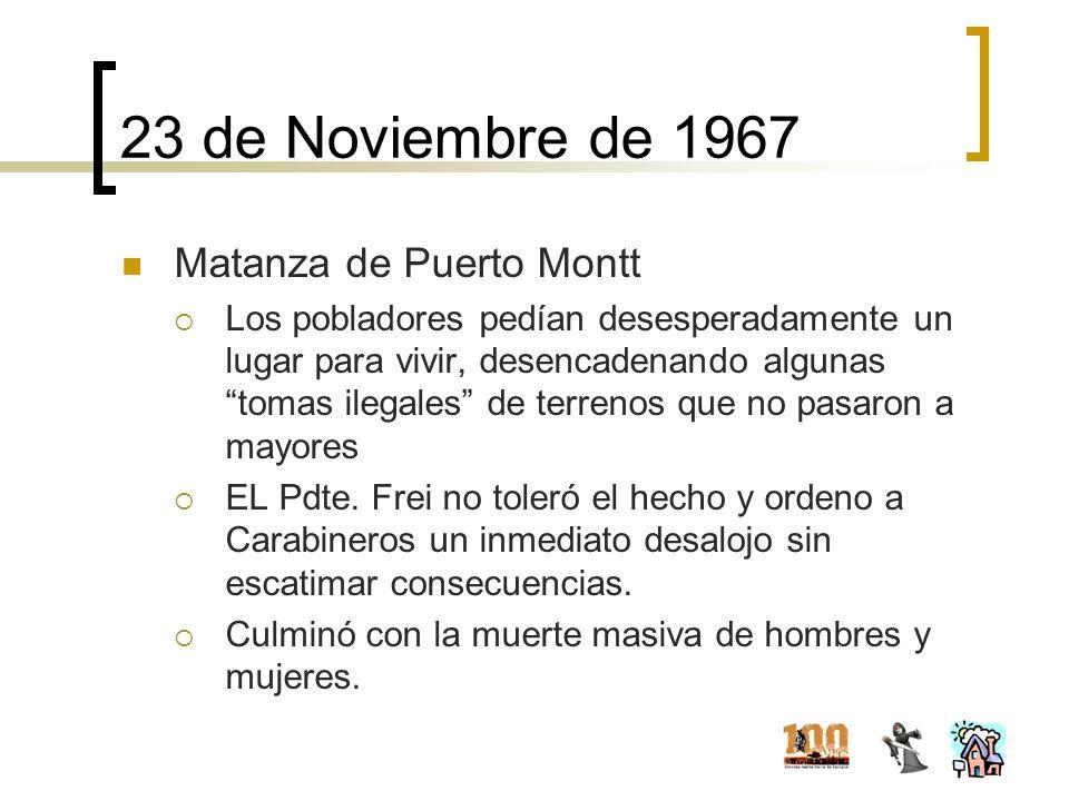 23 de Noviembre de 1967 Matanza de Puerto Montt