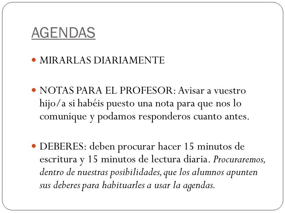 AGENDAS MIRARLAS DIARIAMENTE