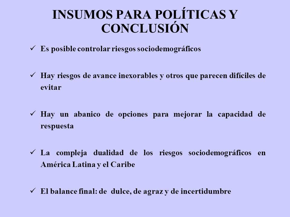 INSUMOS PARA POLÍTICAS Y CONCLUSIÓN