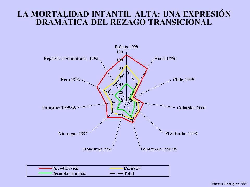 LA MORTALIDAD INFANTIL ALTA: UNA EXPRESIÓN DRAMÁTICA DEL REZAGO TRANSICIONAL