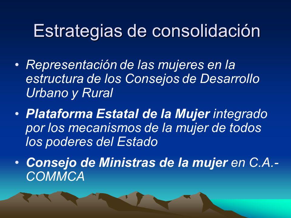 Estrategias de consolidación