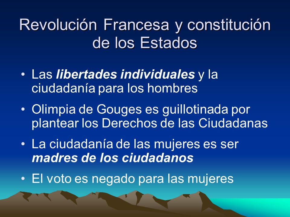 Revolución Francesa y constitución de los Estados