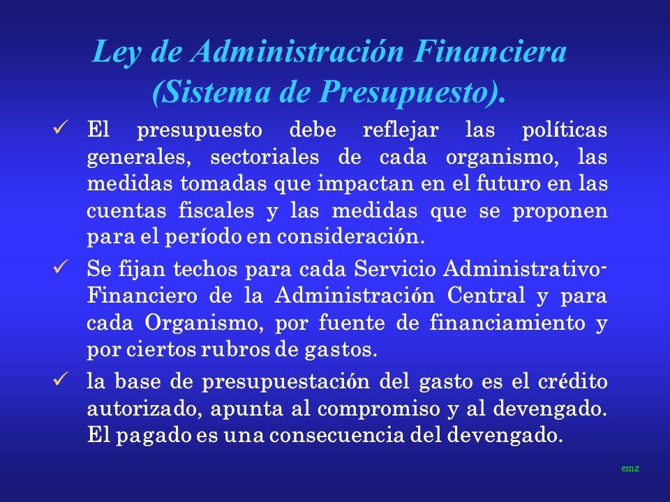 Ley de Administración Financiera (Sistema de Presupuesto).