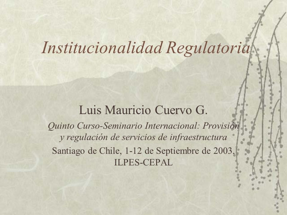 Institucionalidad Regulatoria