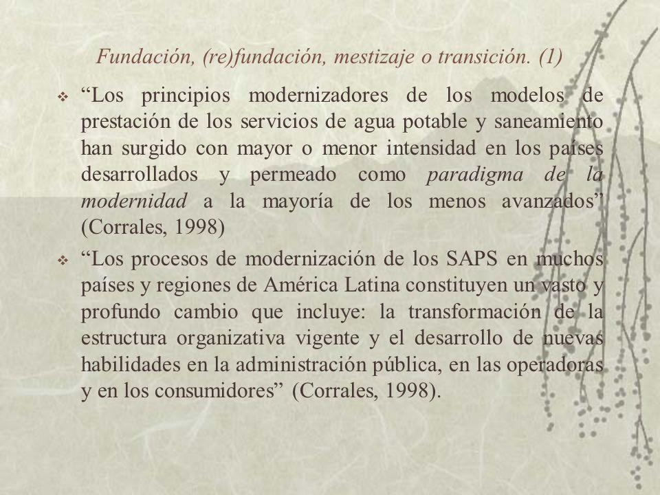 Fundación, (re)fundación, mestizaje o transición. (1)
