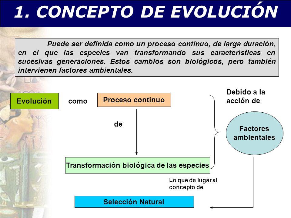 Transformación biológica de las especies