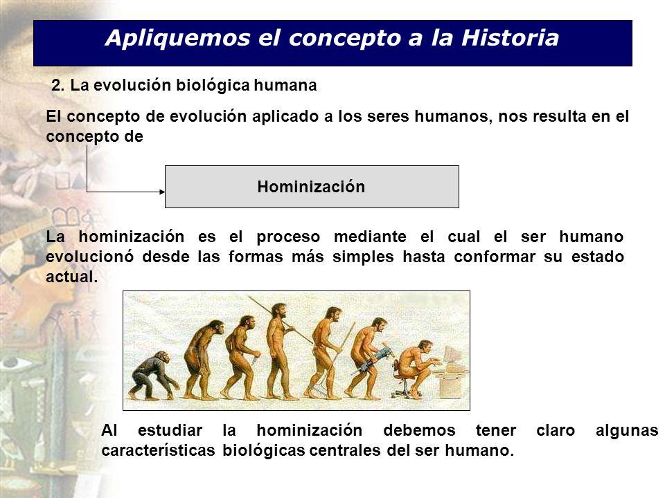 Apliquemos el concepto a la Historia