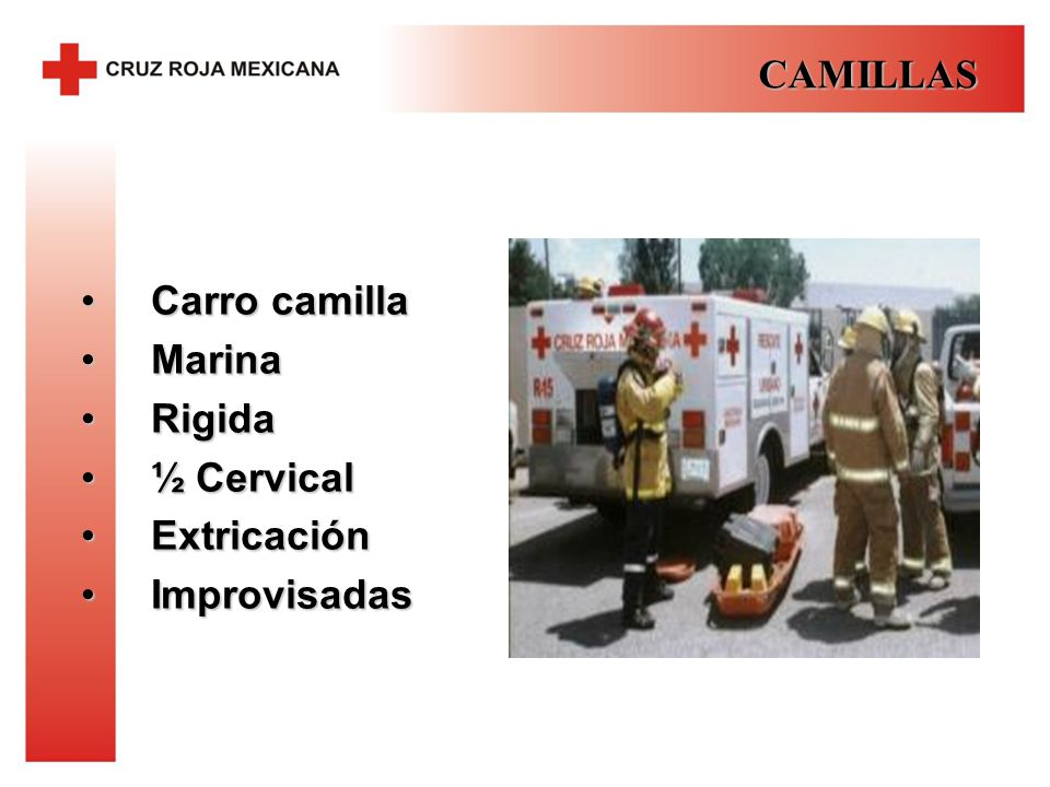 CAMILLAS Carro camilla Marina Rigida ½ Cervical Extricación Improvisadas