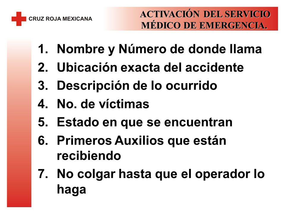 ACTIVACIÓN DEL SERVICIO MÉDICO DE EMERGENCIA.