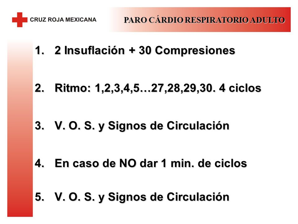 2 Insuflación + 30 Compresiones